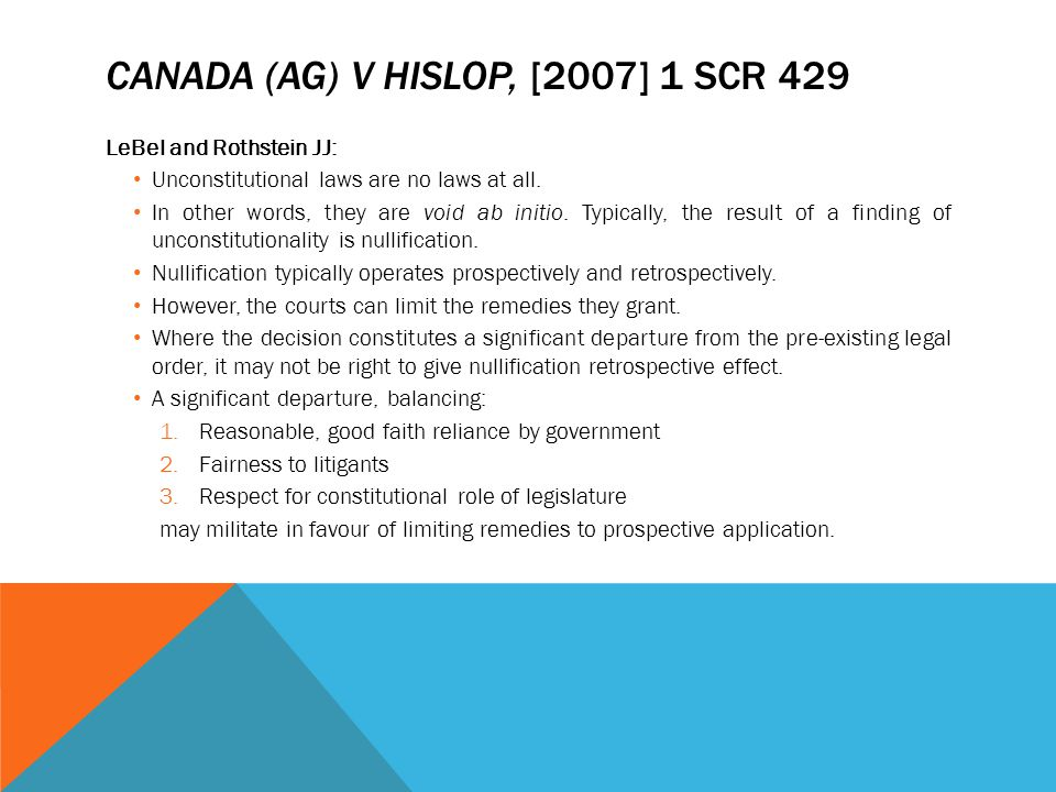 Canada (AG) v Hislop, [2007] 1 SCR 429